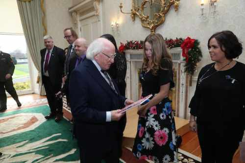 President Receives Members Of Cystic Fibrosis Ireland