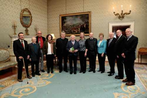 "President Receives The Contributors To The Publication Entitled ""laudato Sí: Ireland's Response"""