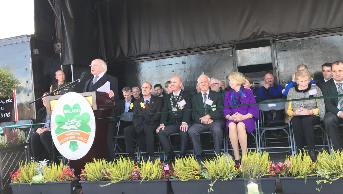 President officially opens the National Ploughing Championships 2018