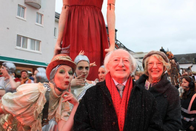 First stop - Galway. Michael D and Sabina enjoying the fun and frolics of the Galway Arts Festival