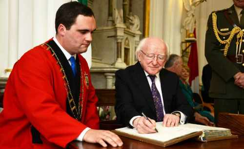 President is conferred with the Freedom of Drogheda