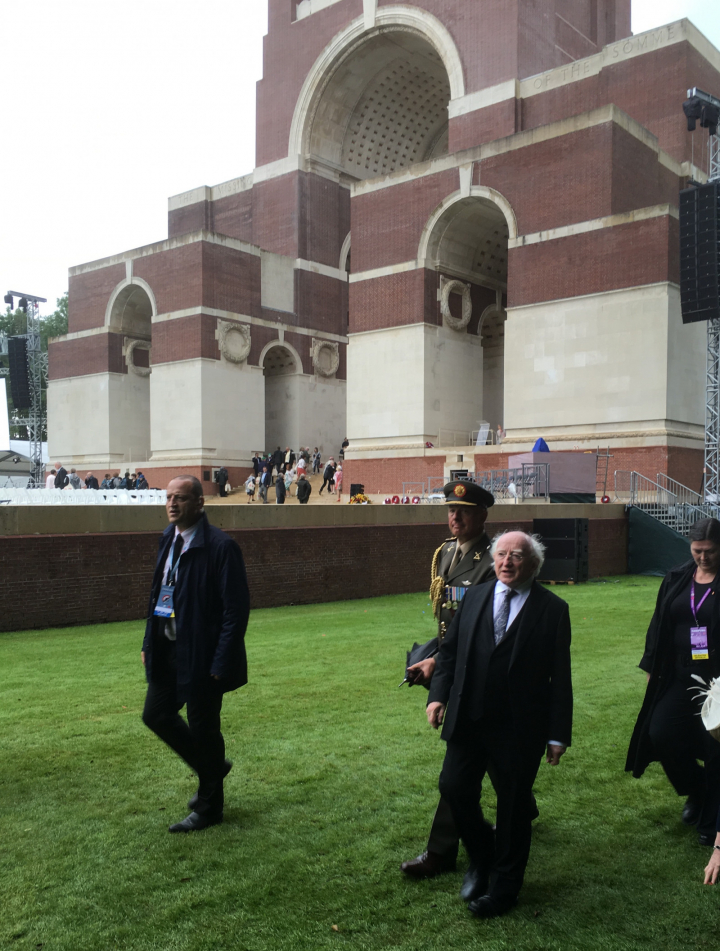 President attends commemorative event to mark the Centenary of the Battle of the Somme