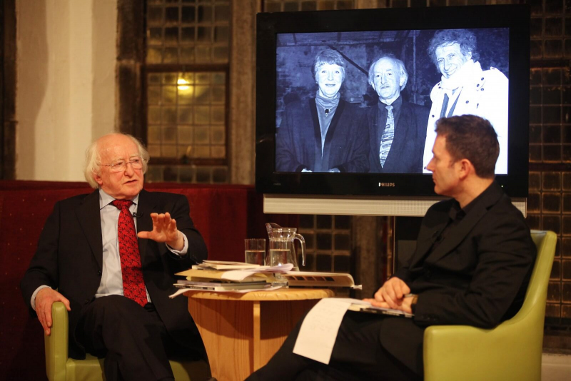 In 2010 Michael D. reflected on his life with fellow graduate Harry McGee of The Irish Times at an NUI Galway event