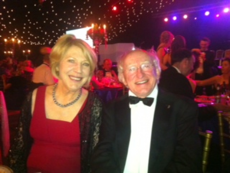 Labour Party Presidential candidate, Michael D. Higgins and wife, Sabina enjoying the atmosphere at the Rose Ball, Tralee. 2011