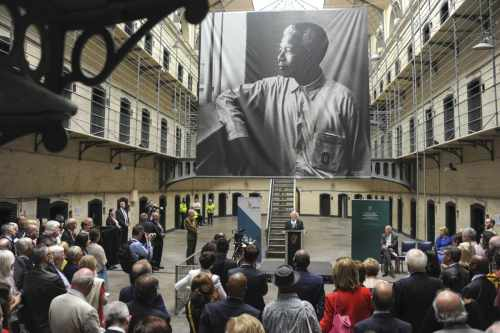 President Higgins Officially Opens The Nelson Mandela Exhibition 'from Prisoner To President'