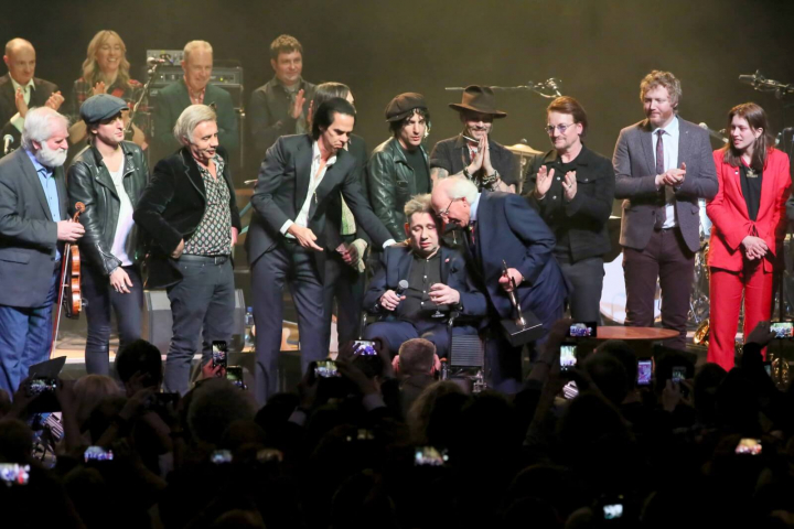 President attends a concert to mark Shane MacGowan's 60th birthday
