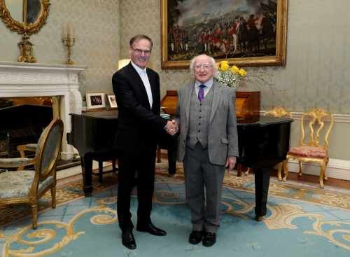 President Receives The Right Rev. Dr. Noble Mcneely, Moderator, Presbyterian Church In Ireland