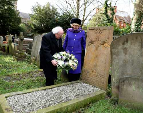 President Visits Grave Of Eva Gore Booth