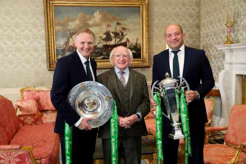 President hosts a reception in honour of the Irish Rugby Team's Grand Slam victory