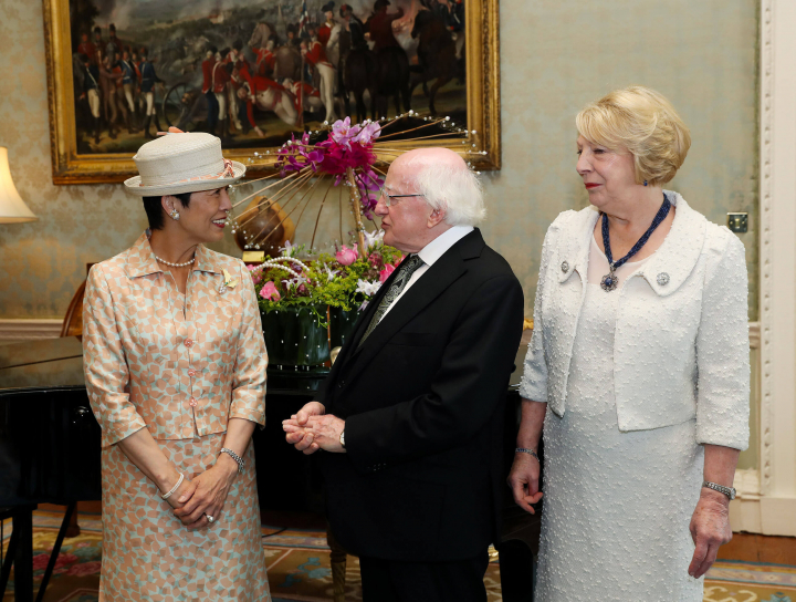 President receives Her Imperial Highness Princess Takamado of Japan on a courtesy call