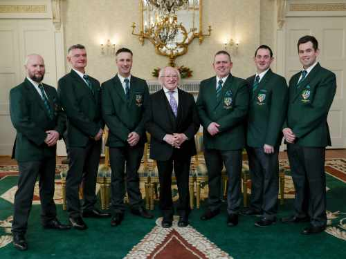 President Receives Members Of Team Ireland Butchery Prior To Their Departure To Participate In ...