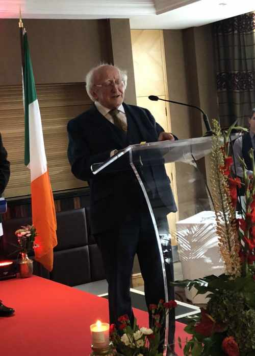 President Speaks At A Ceremony To Commemorate The Establishment Of Diplomatic Relations Between Ireland And Nepal
