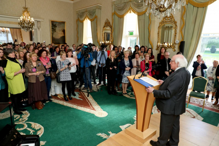 President and Sabina host reception to mark International Women's Day