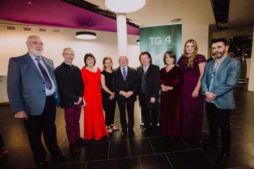 President Presents Gradam Ceoil Tg4 And Presents Main Award To Frankie Gavin