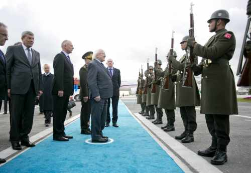 Pictured Is President Michael D Higgins Arriving At Istanbul Ataturk Airport