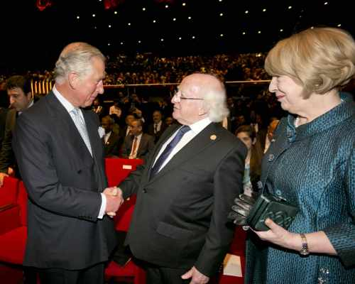 President Michael D Higgins And His Wife Sabina With Hrh The Prince Of Wales At The Istanbul Congress Centre