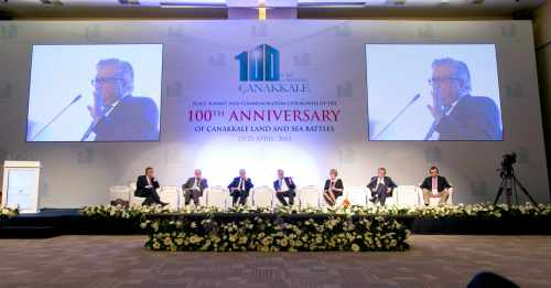 The 'Peace Summit And Commemoration Ceremonies Of The 100th Anniversary Of The Canakkale Land And Sea Battles' At The Istanbul Congress Centre