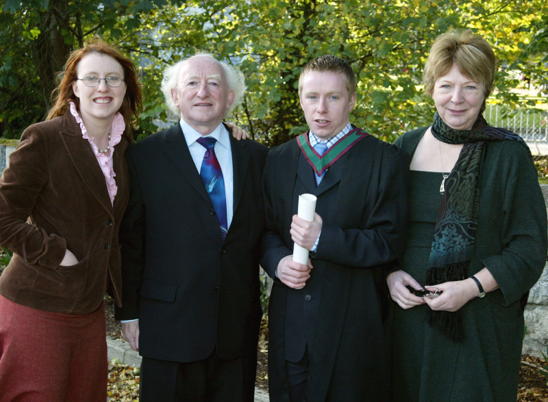 The second generation of the Higgins family have gone on to study at NUI Galway
