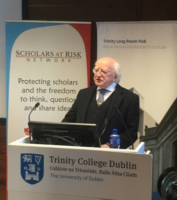 "President addresses Scholars At Risk Ireland event, ""Ideas Are Not Crimes"""