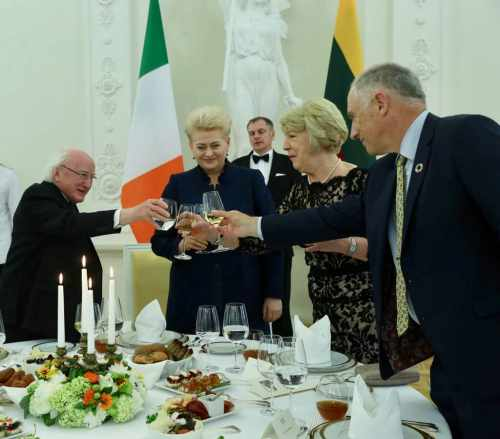 President attends a dinner in his honour, hosted by President Grybauskaite