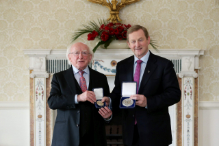 In May 2016, the President handed the Seal of Office to Taoiseach Enda Kenny