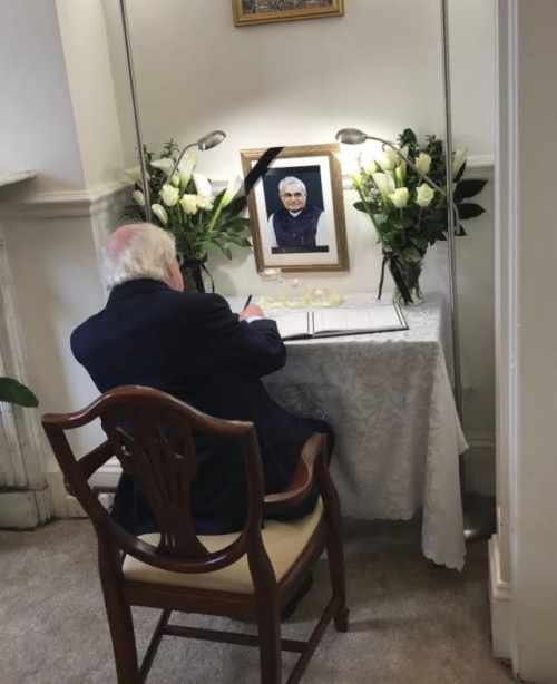President Signs Book Of Condolences For The Late Former Prime Minister Of India, Mr Atal Bihari Vajpayee, At Indian Embassy